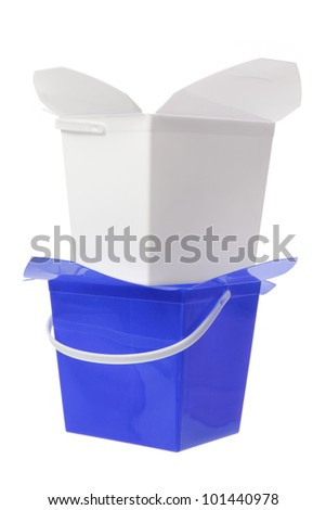 Plastic Boxes on White Background