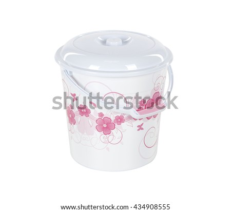 plastic bucket #434908555