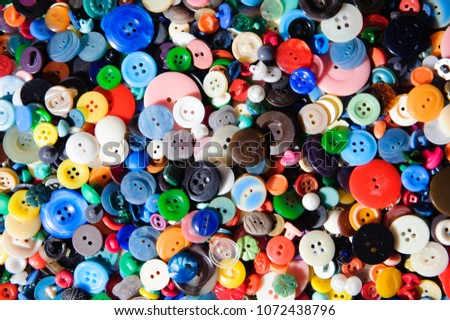 Plastic buttons, Colorful buttons background, Buttons close up, Buttons background