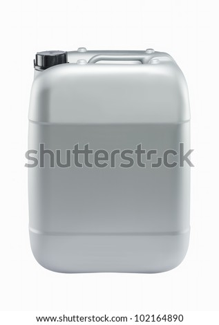 Plastic can isolated on white background