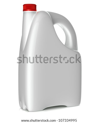 Plastic canister - on white background