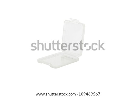 Plastic CF card case, isolated on white