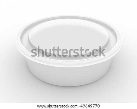 Plastic container (isolated on white, clipping path)
