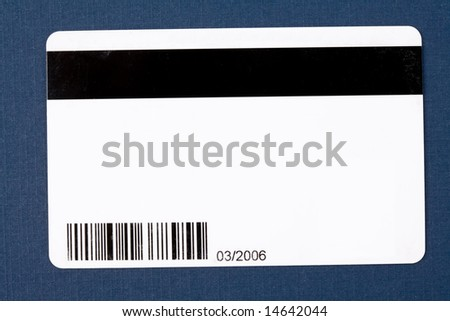 Plastic Digital Data Card close up