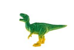 Plastic dinosaur isolated on white background, Tyrannosaurus rex