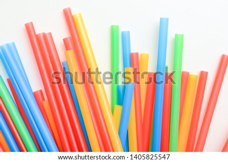 Plastic drinking straws, Single use plastic straw #1405825547