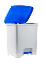 plastic dust bin isolated on white background.