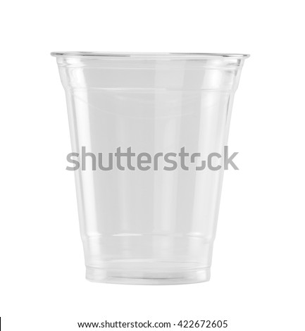 Plastic Glass isolated on white background with clipping path #422672605