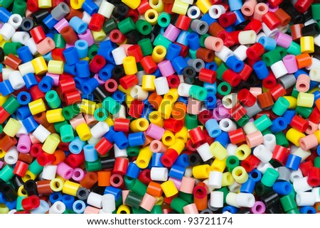 plastic granules or plastic beads for children to play with