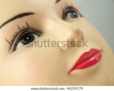 plastic head close up - stock photo