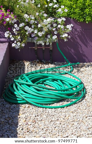 plastic hose for watering flowers