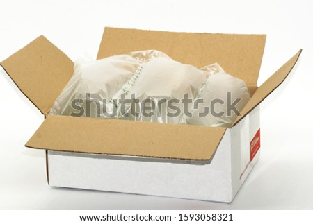 Plastic in packaging and cartons for transport