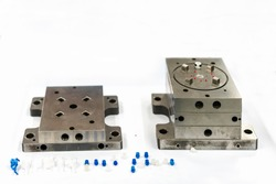 Plastic injection metal mold production from manufacture by high precision and quality cnc machining center material made from steel with plastic sample part