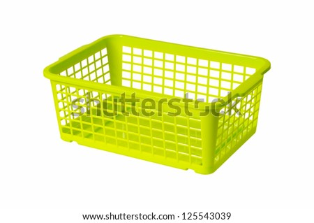 Empty Laundry Basket Clipart Plastic laundry basket green