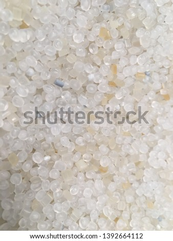 Plastic Pellets, Clear and Clear-Yellow