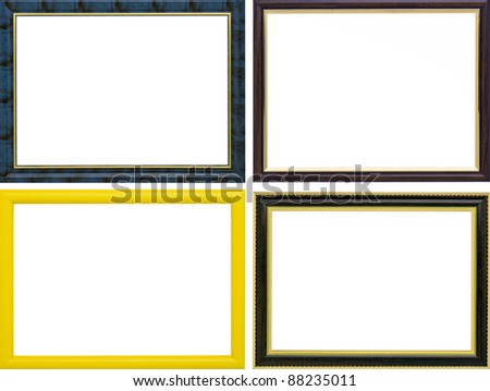 Plastic  photo frames isolated on a white background