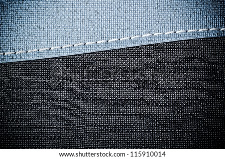 Plastic plate texture background with black and light blue color