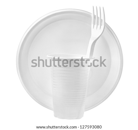 plastic plates and glasses