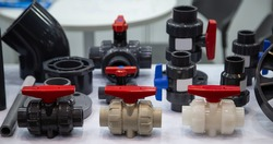 Plastic PVC valves, ball valve, pipe, fittings, pipe connector for household and industrial plumbing