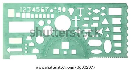 plastic ruler isolated on white