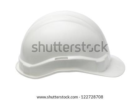 Plastic Safety Helmet on White Background