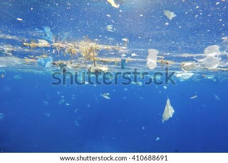 Plastic sea pollution