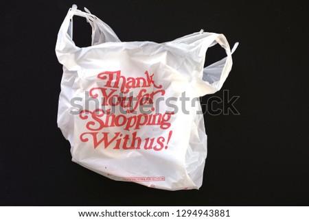 Plastic Shopping Bag #1294943881