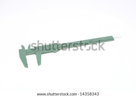plastic slide caliper - stock photo
