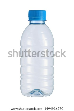 Plastic small water bottle disposable (with clipping path) isolated on white background #1494936770