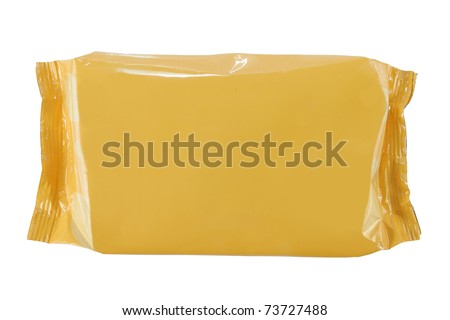 plastic snack container. ready for your design. isolated over white background
