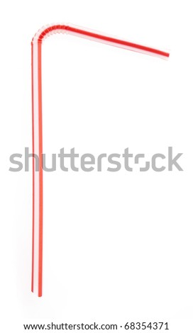 plastic straw isolated on a white background