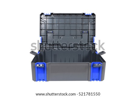 Plastic tool box on white background. #521781550