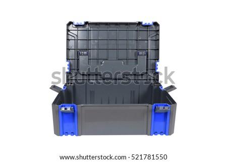 Plastic tool box on white background. #521781550