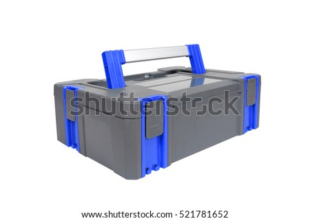 Plastic tool box on white background. #521781652