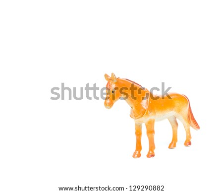 Plastic Toy Animal Horse