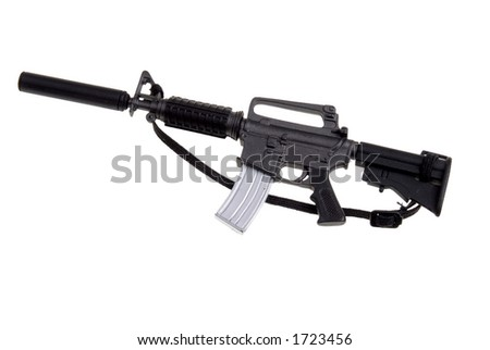 plastic toy m-16 machine gun