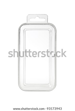 Plastic transparent container with clipping-path - stock photo