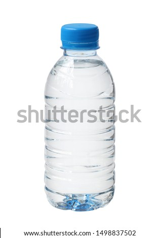 Plastic water bottle disposable (with clipping path) isolated on white background #1498837502