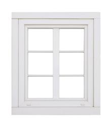 Plastic window on white background