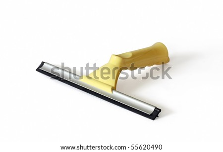Plastic Window Squeegees - hand made clipping path included
