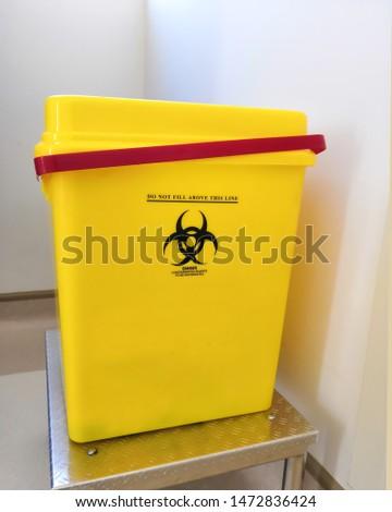 Plastic Yellow Biohazardous Sharp Container