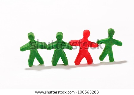 plasticine characters - stock photo