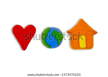 Plasticine love, the concept of the Earth, Earth Day, Love of our earth. Earth is our home #1373476103