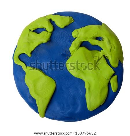 Модель земного шара своими руками из пластилина