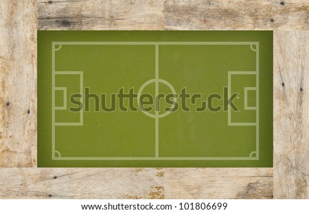 Plasticine Soccer football on wood background