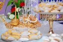 Plat à biscuits de fête de noix de coco maison marocaine close up