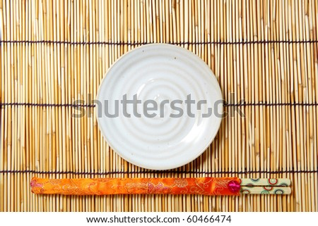 plate and chopsticks