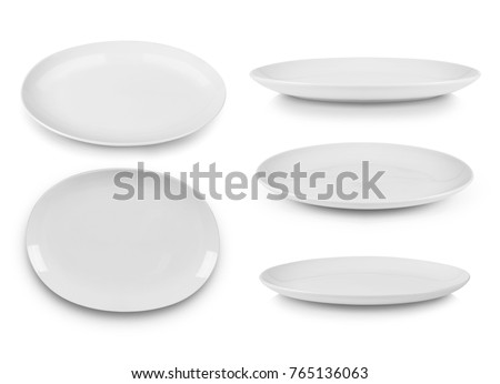 Photo of  plate isolated on white background