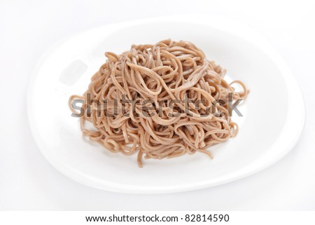plate of buckwheat  noodles