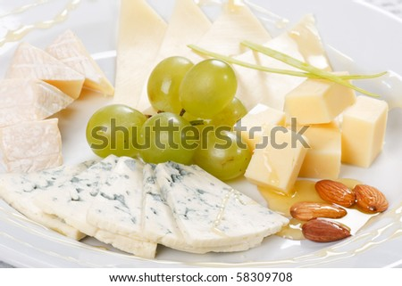 plate of cheese
